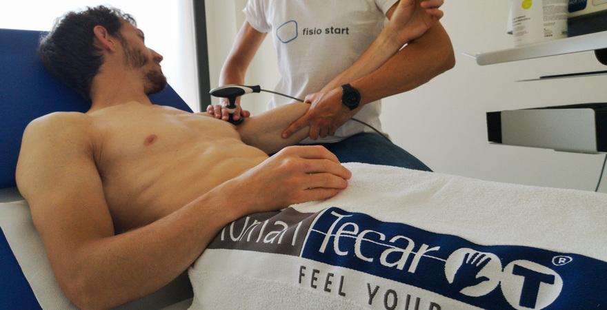 fisio start Terapia tecar paziente